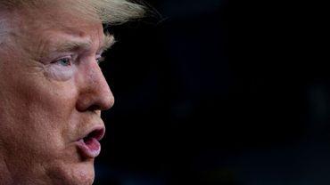 Donald Trump lors de la conférence de presse quotidienne sur le coronavirus à la Maison Blanche.
