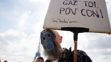 Manifestation contre le gaz de schiste en France