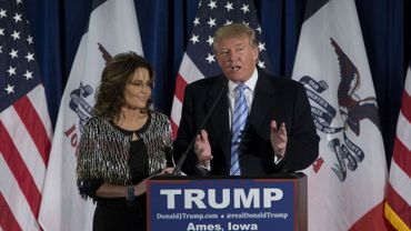 Présidentielle US: Sarah Palin soutient Donald Trump, Jeb Bush prédit sa chute