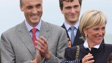 Le prince Lorenz, le prince Amedeo et la princesse Astrid