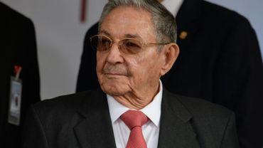Le président cubain Raul Castro à Caracas le 5 mars 2018