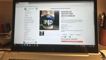 La société liégeoise Markima, par exemple, propose des masques de protection réutilisables et personnalisables en quadrichromie