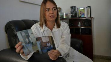 La médecin cubaine Lourdes Garcés, de retour d'une mission au Brésil, à La Havane le 22 décembre 2018