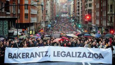 Manifestation pour demander la légalisation de Sortu, à Bilbao le 19 février 2011