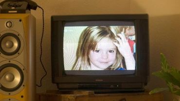Une photo de la jeune Madeleine McCann apparaît sur une télévision, le 16 octobre 2013