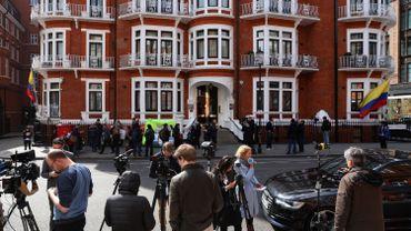 Ambassade équatorienne à Londres, où Assange s'était réfugié depuis 2012