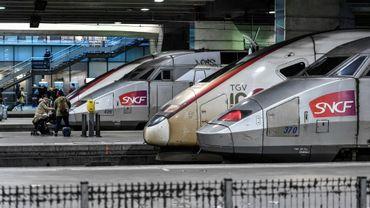 Des TGV à la gare Montparnasse à Paris, le 2 janvier 2020