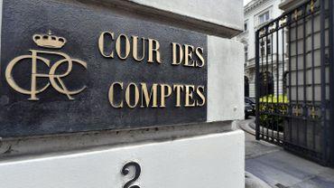 Plaque d'entrée de la Cour des Comptes, à Bruxelles, en 2017