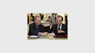Eric Schmidt (président de Google) & Francois Hollande