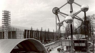Bruxelles durant la construction de l'Expo58.