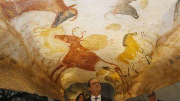 François Hollande en visite à Lascaux-4