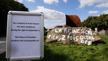 """France: le """"vagin de la reine"""" d'Anish Kapoor, vandalisé, va rester en état"""