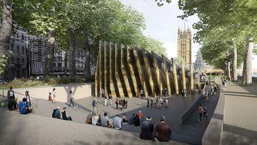 Rendu d'architectes du Mémorial de la Shoah de Londres