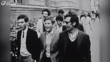 Celui qui fut le leader de Nanterre, Daniel Cohn-Bendit (au centre).