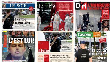 """Fusillade à Liège: la presse s'interroge face à la """"violence aveugle"""" """"sans raison apparente"""" après la """"case prison"""""""