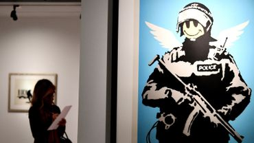 Riot Cop, de Banksy, exposé dans un musée à Rome