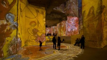 """Culturespaces développe ce concept aux Baux-de-Provence, dans le sud de la France, depuis 2012, avec les """"Carrières de Lumière"""", qui attirent près de 600.000 visiteurs par an."""