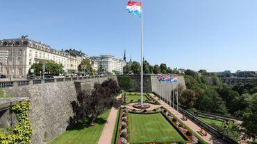 Place de la Constitution à Luxembourg, le 29 août 2017