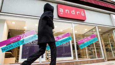 Un magasin de chaussures André à Dunkerque dans le Nord le 25 janvier 2017