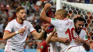 La joie tunisienne sur le 1-2 de Khazri