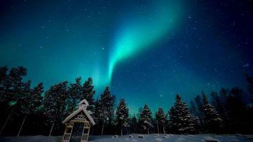 Une aurore boréale en Norvège, près de Tromsö le 18 février 2010