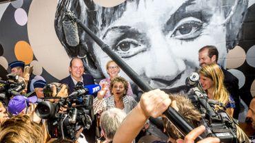 Inauguration du parc et de la fresque Annie Cordy à Laeken