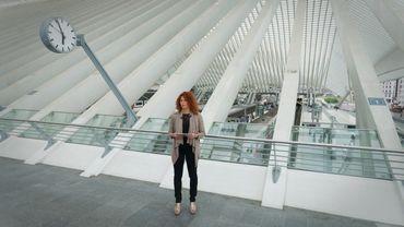 Malika Attar, gare des Guillemins à Liège