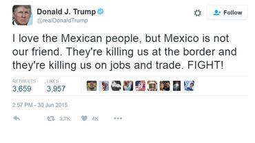 Donald Trump interdit de compte Twitter par ses collaborateurs