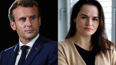Tensions au Bélarus: Macron promet à la cheffe de l'opposition bélarusse son aide à la médiation