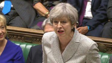 Image tirée de la chaîne parlementaire britannique  montrant la Première ministre Theresa May, le 13 mai 2017 à Londres