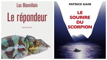 """Couvertures des livres """"Le répondeur"""" (Luc Blanvillain) et """"Le sourire du scorpion"""" (Patrice Gain)"""