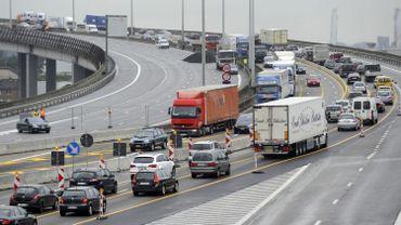 Le Ring de Bruxelles saturé en circulation extérieure après un accident à hauteur de Vilvorde