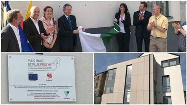 Une des réalisations des Fonds FEDER: le nouveau bâtiment qui regroupe les services de prévention de Verviers, dans la rue Spintay. Les autorités communales ont inauguré ce bâtiment mercredi.