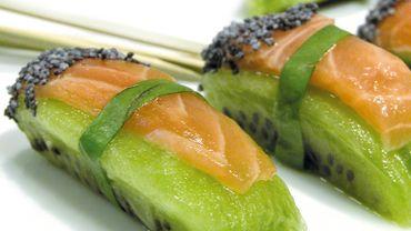Sushis kiwi-saumon