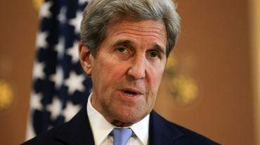 Le secrétaire d'Etat américain John Kerry lors d'une conférence de presse le 27 juin 2016 à Londres