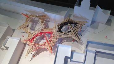 La maquette du nouveau projet d'Arne Quinze pour le haut de la rue de Nimy