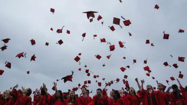 Cérémonie de remise de diplôme aux Etats-Unis