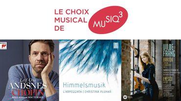 CHOIX MUSICAL avec des nouveautés de Leif Ove Andsnes, Christina Pluhar et Vilde Frang