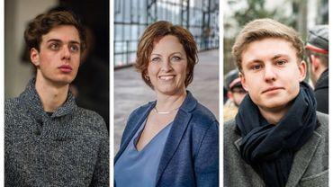 De gauche à droite: Jos D'Haese (PTB), Mieke Schauvliege (Groen), Filip Brusselmans (Vlaams Belang)