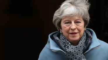 Theresa May au 10, Downing Steet, ce 23 janvier
