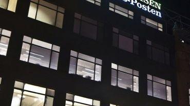 Le siège du journal danois Jyllands-Posten le 29 décembre 2010 à Copenhague