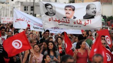 Manifestation anti-gouvernementale le 24 août 2013 à Tunis