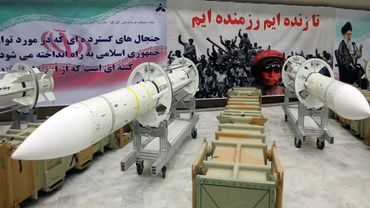 Des missiles Sayyad-3 exposés dans un endroit non précisé en Iran, dans une photo diffusée par le ministère de la Défense irianien le 22 juillet 2017.