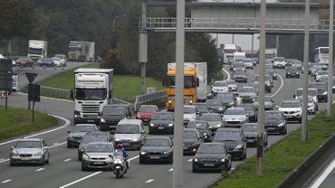 Illustration: un tronçon de la E40 aux abords de Bruxelles