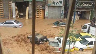 La Jordanie a connu de fortes précipitations jeudi après-midi