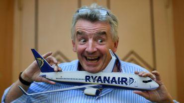 Le PDG de Ryanair, Michael O'Leary, lors d'une conférence de presse le 27 juin à Rome