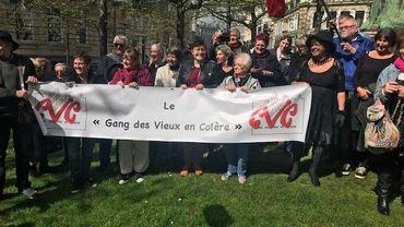 """La mobilisation du """"Gang des vieux en colère"""", à Bruxelles."""