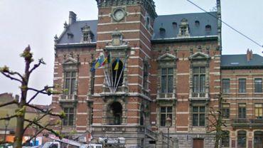 La manifestation d'hier a eu lieu devant la maison communale d'Anderlecht.