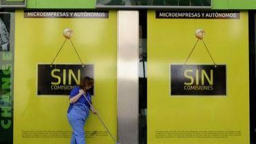 La façade d'un bureau de la banque espagnole Bankia à Séville, photographiée le 15 juin 2012