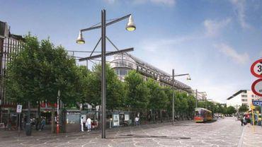 L'une des esquisses du projet de tram à Liège.